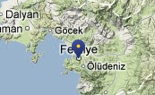 Byen Fethiye og dykkerstederne Afkule 1+2