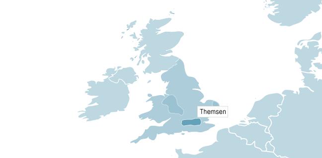 Kart over Themsen