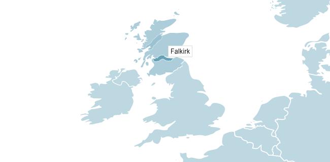 Kart over Glasgow