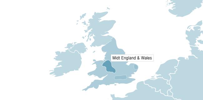 Kart over Manchester