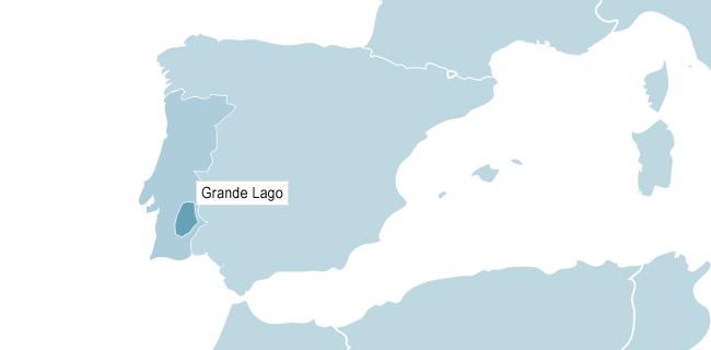 Kart over Grande Lago