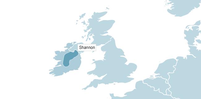 Kart over Shannon