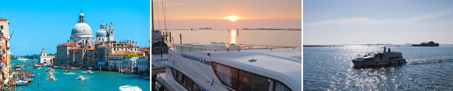 Kanalbåte i Venezia