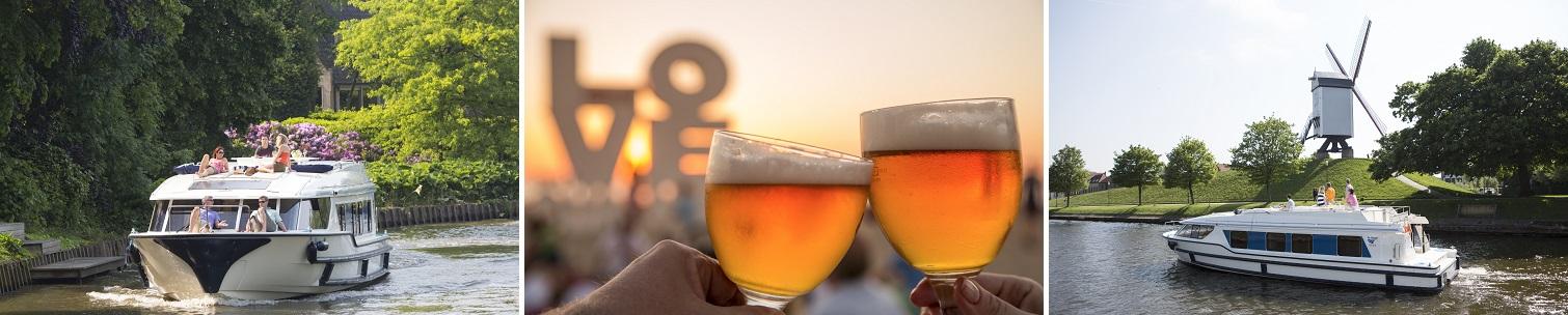 Kanalbåte og øl i Belgia