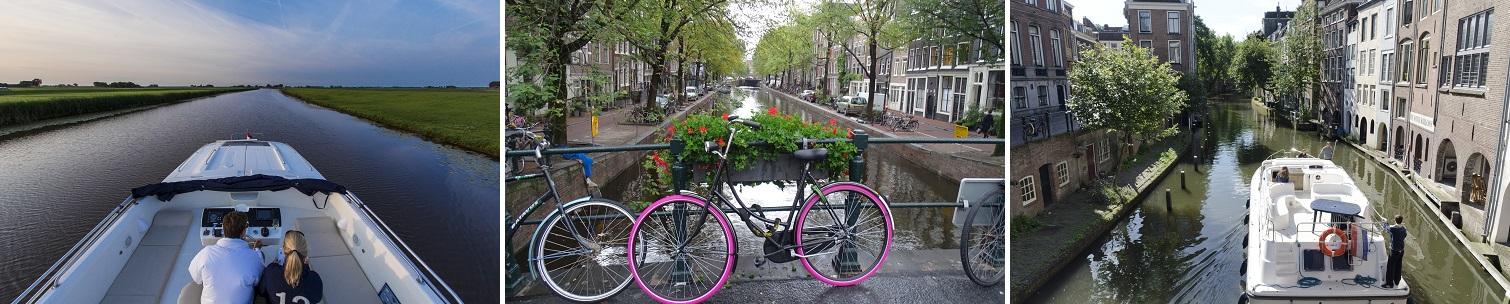 Kanalbåte i Nederland