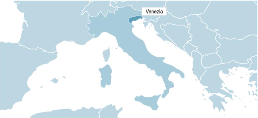 Kart over Venezia